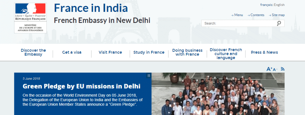 French consulate website