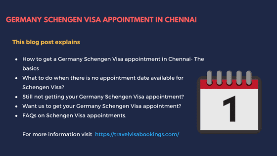 How to get a Germany Schengen visa appointment in Chennai?