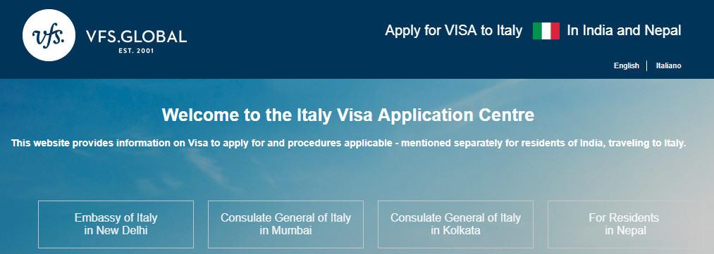 Italy Schengen visa appointment in Delhi