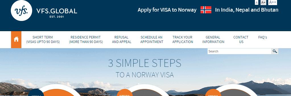 Norway New Delhi VFS