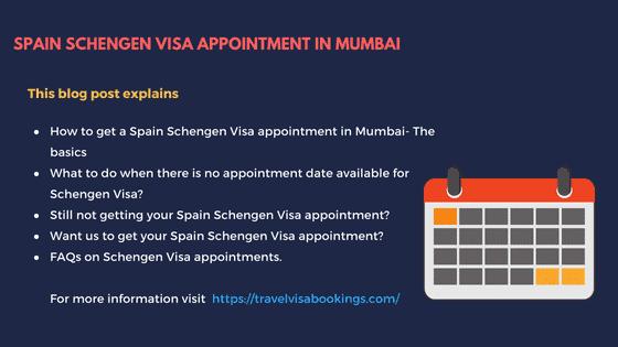 Spain Schengen visa Appointment in Mumbai