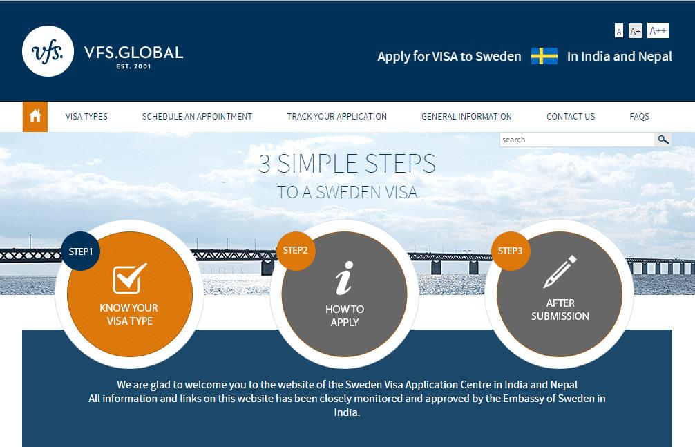 How to get a Sweden Schengen visa appointment in New Delhi