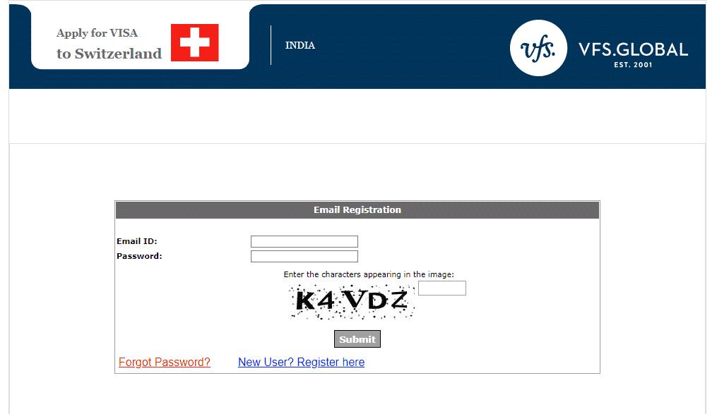 Switzerland New Delhi VFS 3