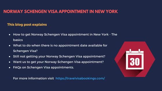 Norway schengen visa appointment in New York