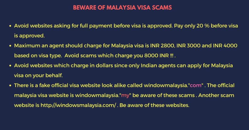 Malaysia tourist visa scams