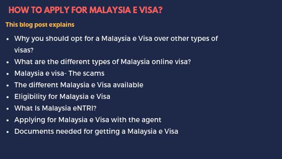 Malaysia e Visa