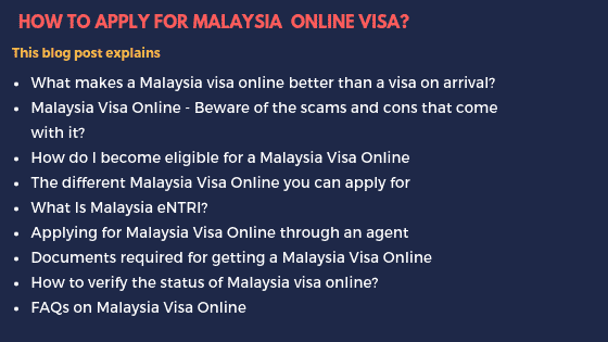 How to successfully apply for a Malaysia Visa online