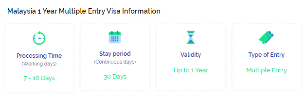 Malaysia 1 year multiple entry visa info