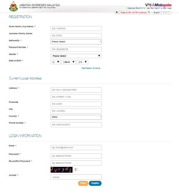 Registration form - windowmalaysia