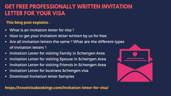 Get Free invitation letter for visa