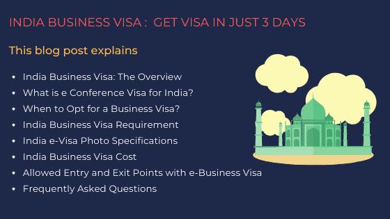 India Business Visa: Get India Visa in Just 3 Days