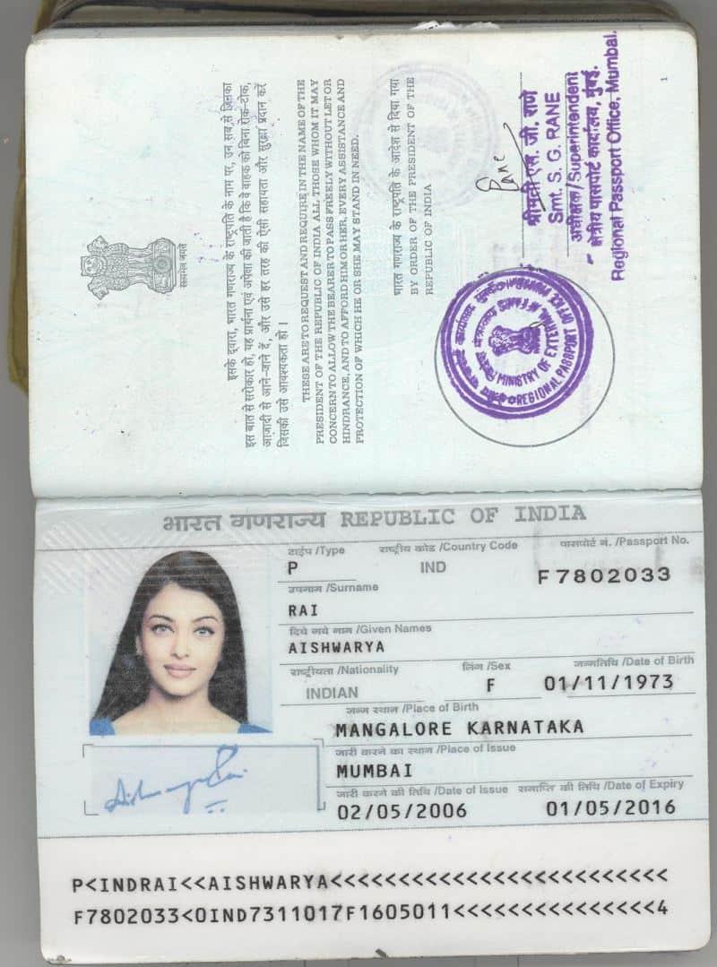 Passport Copy Sample