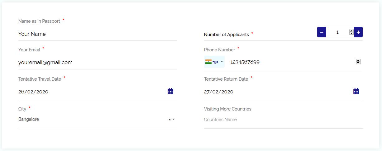 schedule personal details
