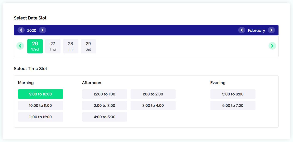 Schedule visa appointment