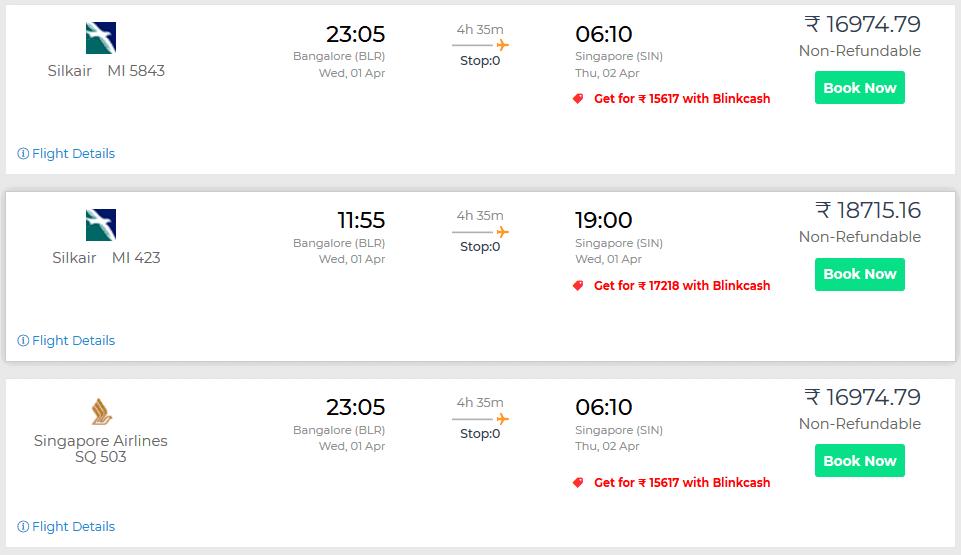Singapore Flight Discounts